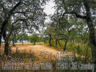 Travis County Residential Lots & Land For Sale: 25400 Cliff Xing