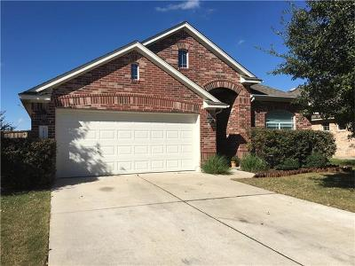 Round Rock Single Family Home For Sale: 2816 Angelina Dr