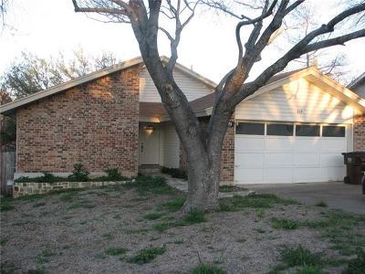 Round Rock Rental For Rent: 809 Powderhorn Dr