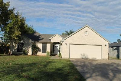 Hutto Single Family Home For Sale: 302 Creekside Dr