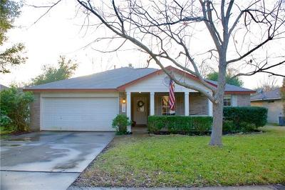 Cedar Park Single Family Home Pending - Taking Backups: 2609 Glenwood Trl