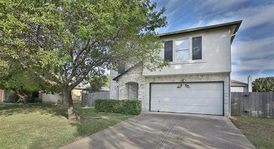 Round Rock Single Family Home For Sale: 3607 Bass Loop
