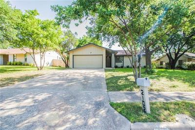 Travis County Single Family Home For Sale: 2102 Singletree Ave