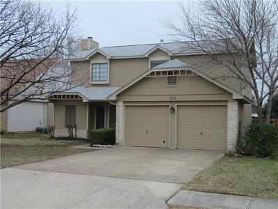 Cedar Park Single Family Home Pending - Taking Backups: 610 Bristlewood Cv