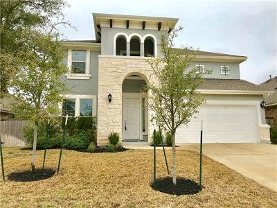 Leander Single Family Home For Sale: 2309 Broken Wagon Dr