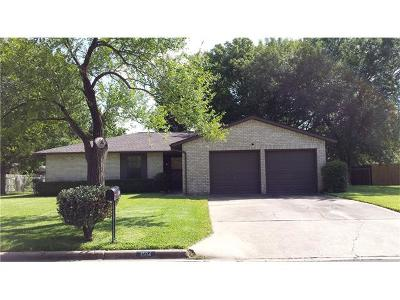 Round Rock Single Family Home For Sale: 1504 Greenfield Dr