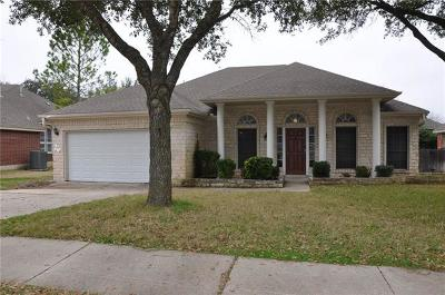 Round Rock Single Family Home For Sale: 1508 Laurel Oak Loop