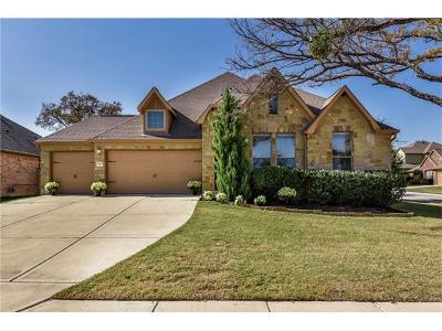 Round Rock Single Family Home For Sale: 2641 Estefania Ln