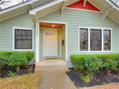 Travis County, Williamson County Single Family Home For Sale: 4605 Eilers Ave