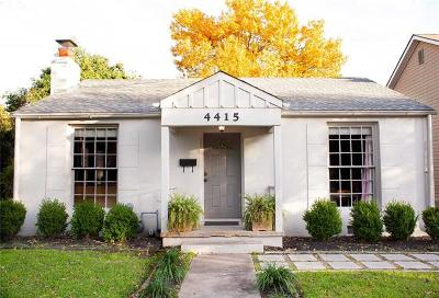 Austin Single Family Home For Sale: 4415 Rosedale Ave
