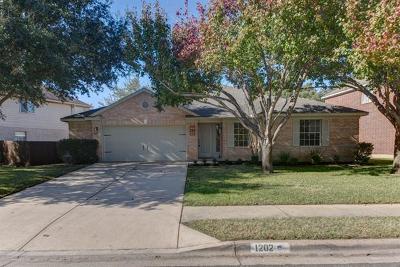 Cedar Park Single Family Home Pending - Taking Backups: 1202 Red Ranch Cir
