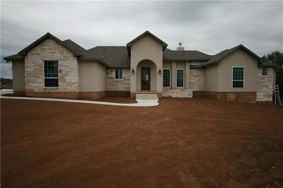 Marble Falls Single Family Home For Sale: Lot 60 Park View Dr