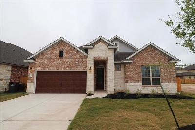 Round Rock Single Family Home For Sale: 3709 Kirby Cv