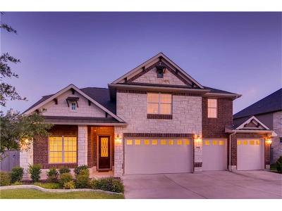 Round Rock Single Family Home For Sale: 4539 Miraval Loop