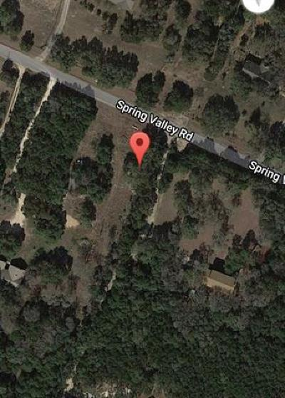 Residential Lots & Land For Sale: 10511 Spring Valley Rd
