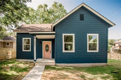 Travis County, Williamson County Single Family Home For Sale: 1801 E 18th St #A