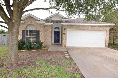 Hutto Single Family Home Pending - Taking Backups: 403 Kates Way