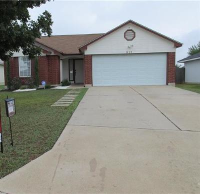 Leander Single Family Home Pending - Taking Backups: 917 Sonny Dr