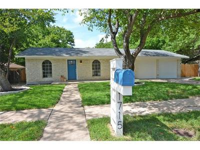 Hays County, Travis County, Williamson County Single Family Home For Sale: 1715 Alleghany Dr