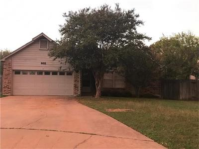 Round Rock Single Family Home Pending - Taking Backups: 602 Purple Sage Dr
