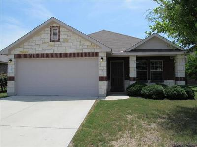 Hutto Single Family Home Pending - Taking Backups: 107 S Creek Bend Dr