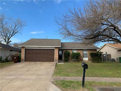 Round Rock Single Family Home For Sale: 1412 Provident Ln