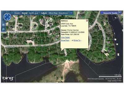 Lago Vista Residential Lots & Land For Sale: 2508 Cody Ave
