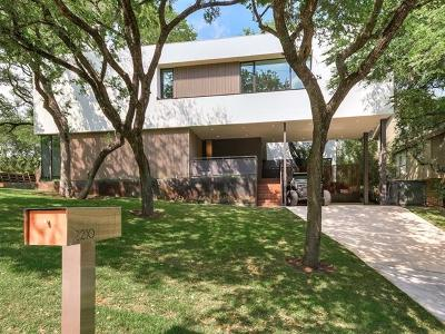Austin Single Family Home For Sale: 2210 Westlake Dr