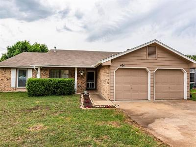 Cedar Park Single Family Home For Sale: 404 Winecup Trl