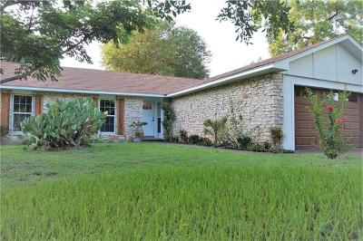Round Rock Single Family Home For Sale: 2000 Ridgetop Dr
