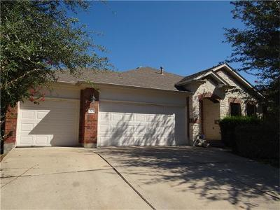 Round Rock Single Family Home For Sale: 704 Centerbrook Pl