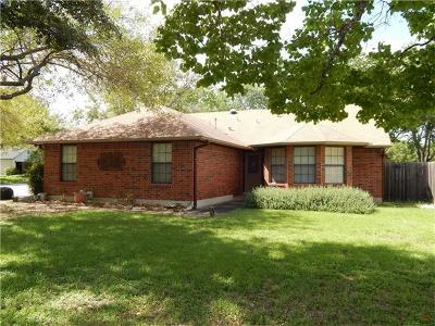 Round Rock Single Family Home For Sale: 604 Hawthorn Ln