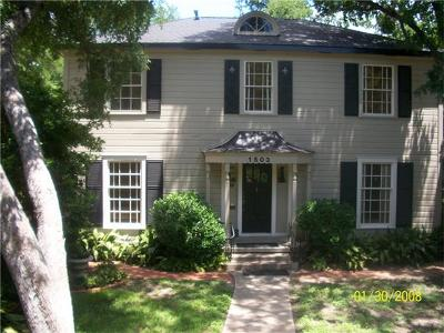 Austin Single Family Home For Sale: 1503 Parkway
