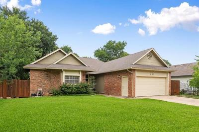 Cedar Park Single Family Home Pending - Taking Backups: 607 Sapling Cv S