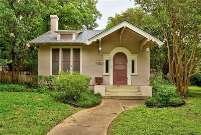 Austin Single Family Home For Sale: 3107 Wheeler St