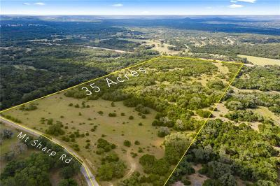Bell County, Burnet County, Comal County, Fayette County, Hays County, Lampasas County, Lee County, Llano County, San Saba County, Travis County, Williamson County Farm For Sale: TBD Mt Sharp Rd