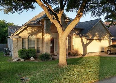 Round Rock TX Single Family Home Pending - Taking Backups: $285,000