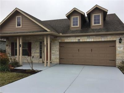 Georgetown Single Family Home For Sale: 1114 Boxwood Loop
