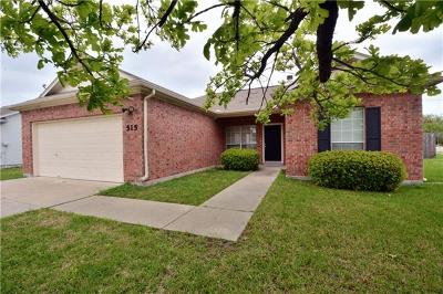 Hutto Single Family Home Pending - Taking Backups: 515 Morning Dove Dr