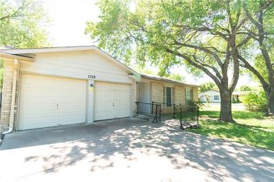 Round Rock Single Family Home For Sale: 1709 W Mesa Park Dr
