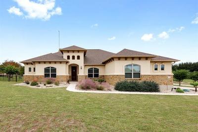 Liberty Hill Single Family Home Pending - Taking Backups: 121 Dillo Trl