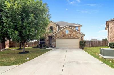 Round Rock Single Family Home For Sale: 2804 Angelina Dr