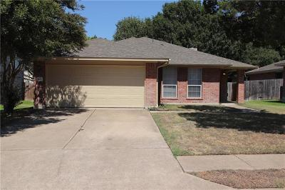 Cedar Park Single Family Home For Sale: 1804 Ascot Ln