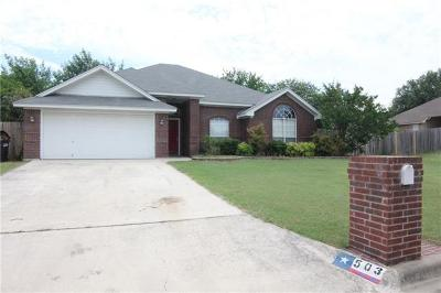 Harker Heights Single Family Home For Sale: 503 Man O War Dr