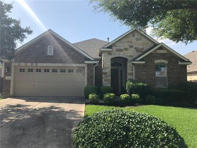 Round Rock Single Family Home For Sale: 3513 Pine Needle Cir