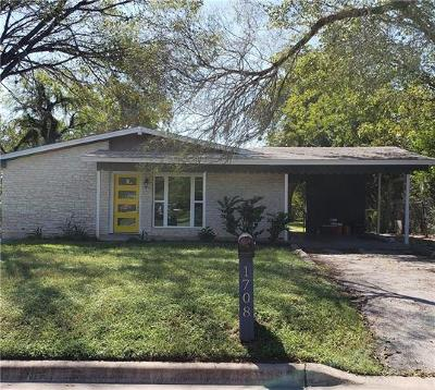 Austin Single Family Home For Sale: 1708 Bunche Rd