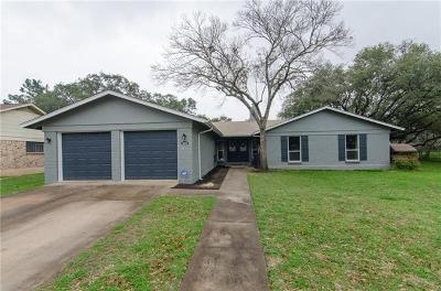Round Rock Single Family Home Pending - Taking Backups: 1605 Bluff Dr