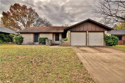 Austin TX Single Family Home For Sale: $255,000