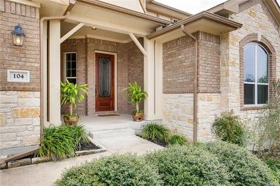 Hutto Single Family Home For Sale: 104 Turvey Cv