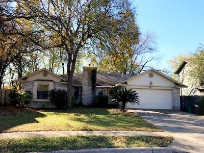 Round Rock Single Family Home Pending - Taking Backups: 421 Maple Run